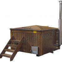 Alumiinialtaalla varustettu kylpypalju - ruskea ulkoverhous