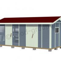 Mara pihavaraston ja liiterin yhdistelmä 13,5 m2