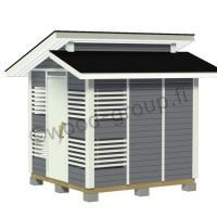 Murrettu harjakattoinen puuvaja-varasto 5,8 m2