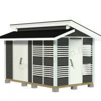 Murrettu harjakattoinen puuvaja-varasto 9,6 m2