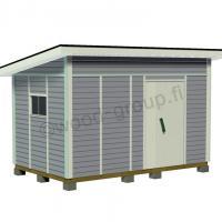 Pulpettikattoinen pihavarasto 9,6 m2