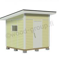 Pulpettikattoinen pihavarasto 5,8 m2